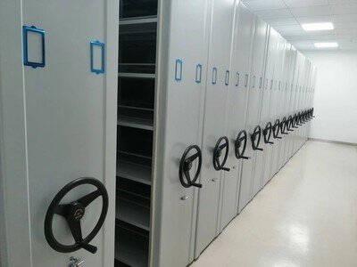 奈高密集架移动档案柜资料柜手摇式轨道密集柜文件柜铁皮柜一列六组每立方单价