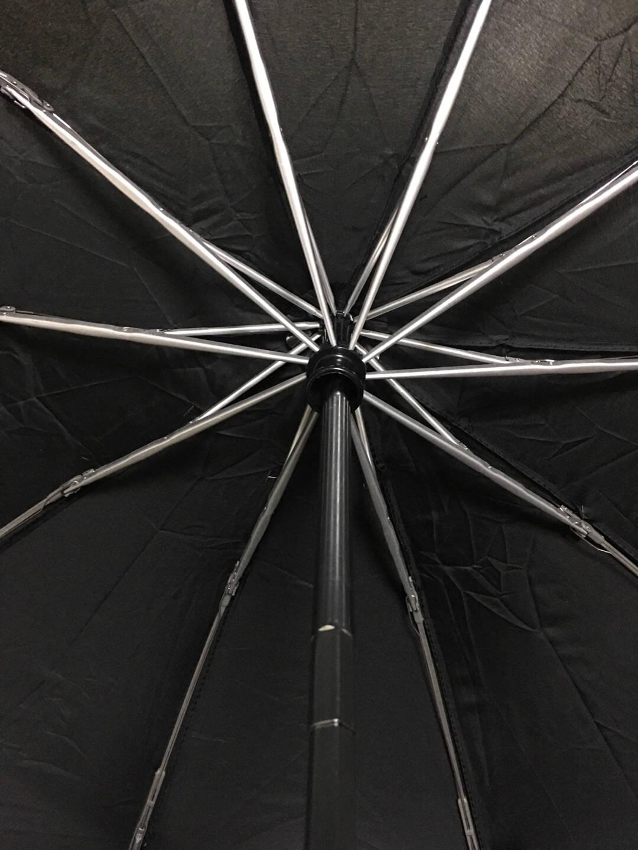 全自动伞反向伞车载商务雨伞黑色加大男士防风10骨自动伞带反光条户外雨具可定制订制全自动反向伞-魅力黑伞下直径105cm
