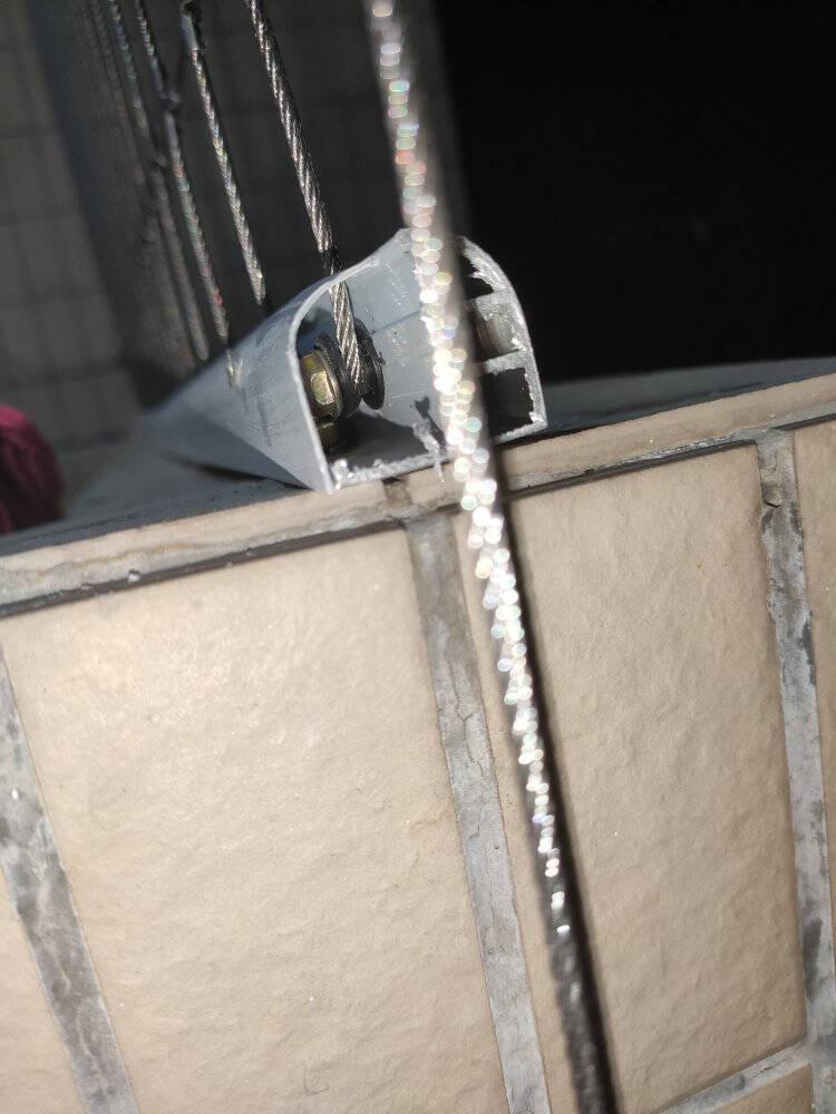 金鼎加隐形防护栏不锈钢丝阳台高层飘窗窗户护栏儿童防护网隐形防盗网钢丝包安装尾款补拍