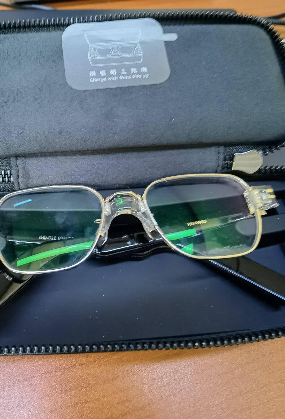 华为HUAWEIXGENTLEMONSTEREyewearII黑HER华为智能眼镜时尚科技高清通话持久续航墨镜