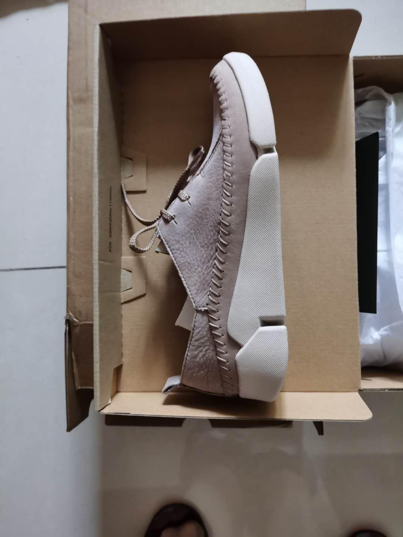 Clarks其乐女鞋2021经典款TriAngel复古英伦风舒适透气三瓣底运动单鞋女休闲白色拼色26115638437