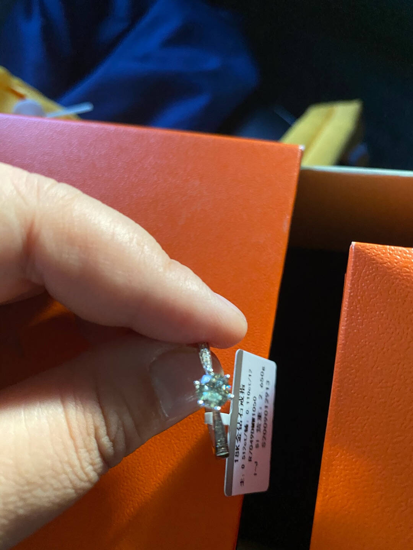 喜钻白18K金钻石结婚钻戒/钻石戒指/求婚结婚女送女友珠宝生日礼物可定制GIA裸钻共50分(40+10)IJ/SI现货闪发