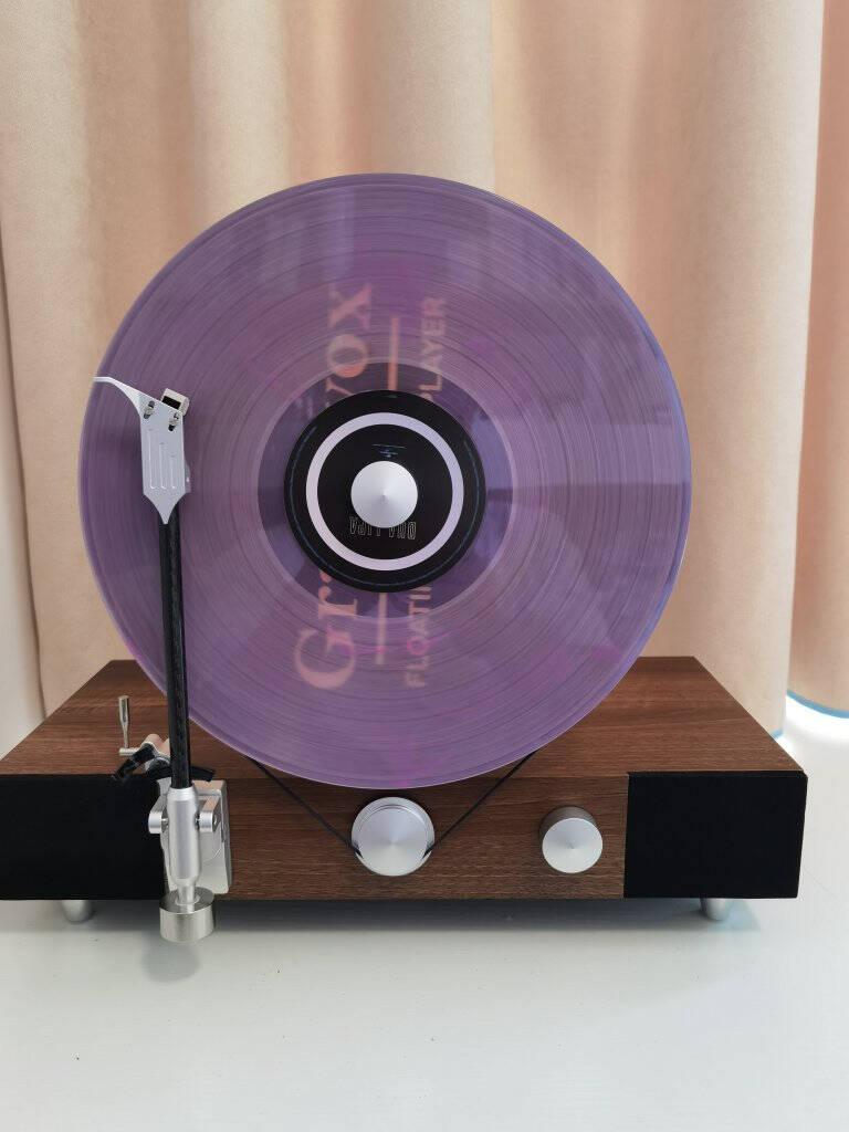 gramovox格莱美黑胶唱片机竖立式留声机黑胶LP复古唱片机电唱机蓝牙音响胡桃木色经典版胡桃木色