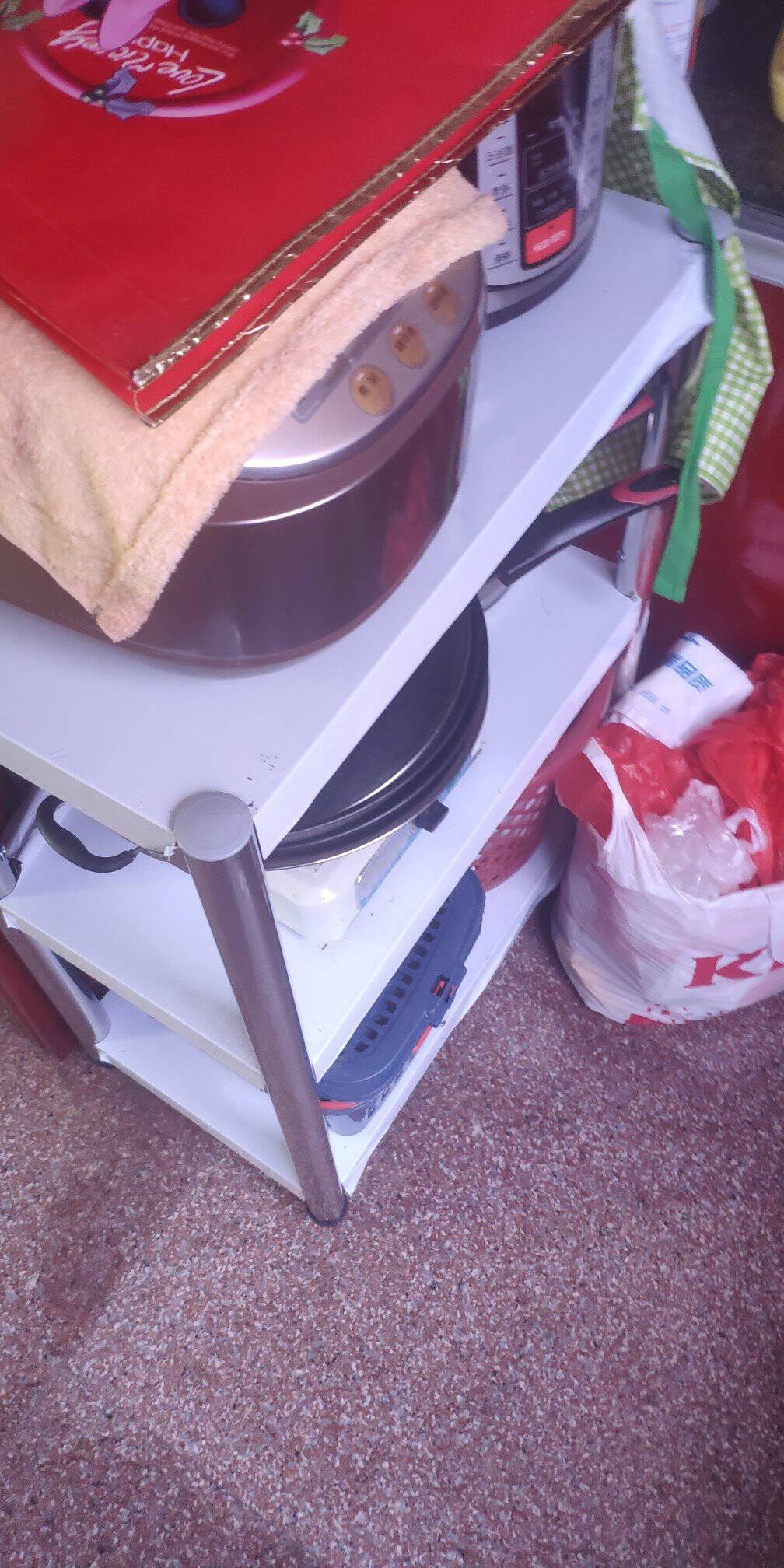 纳厨空间不锈钢厨房置物架落地多层厨具架厨房收纳架微波炉架储物架货架家用柜架子烤箱架锅架长60宽35高80三层