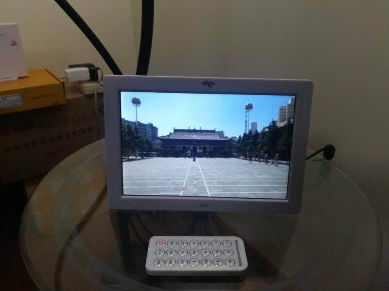 爱国者(aigo)电子相册数码相框DPF818英寸高清照片音乐播放器SD卡U盘像册可开专票标配+U盘(8G)