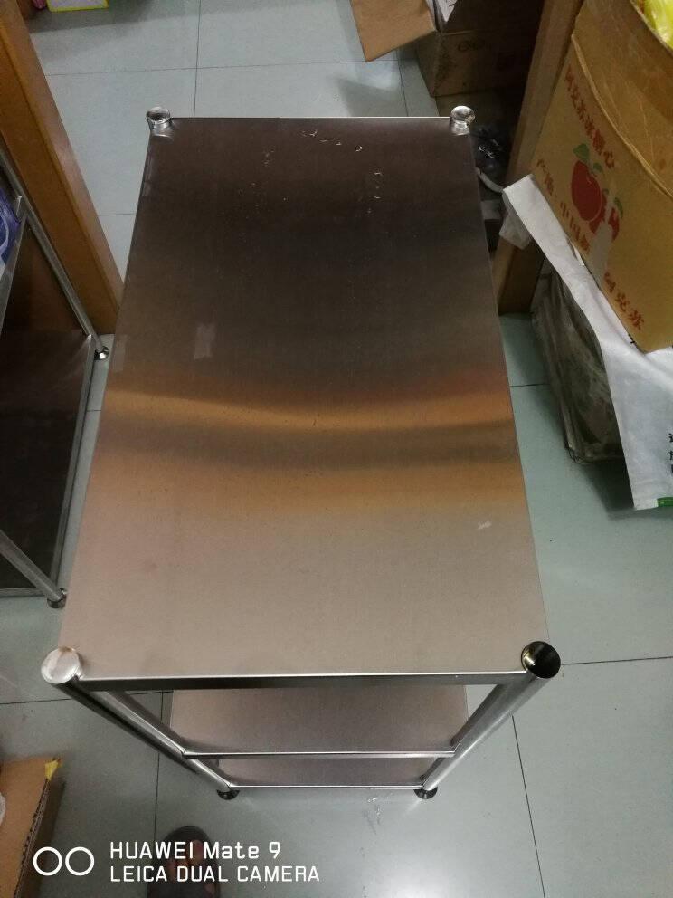 稳纳厨房置物架不锈钢落地微波炉架货架家用柜烤箱架三层储物架收纳架子长60宽35高82B3608