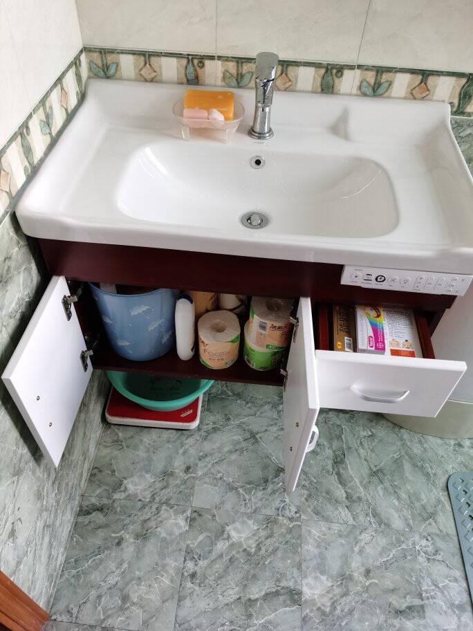 希箭(HOROW)实木浴室柜套装浴室镜洗漱台面盆洗手盆洗脸盆吊柜组合套装森柔黑白80cmMYSG-0578-HB-2