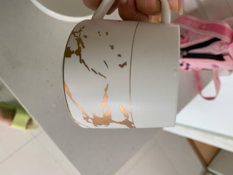 Edo北欧风马克杯陶瓷水杯咖啡杯创意大理石纹理情侣杯子简约办公室喝水杯颜色随机