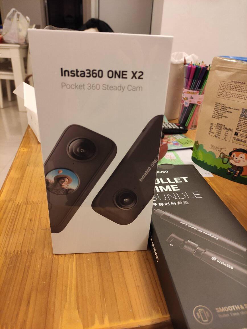 Insta360ONEX2口袋全景防抖相机5.7K高清防抖平面全景二合一拍摄10米裸机防水ONEX2摩托车礼盒