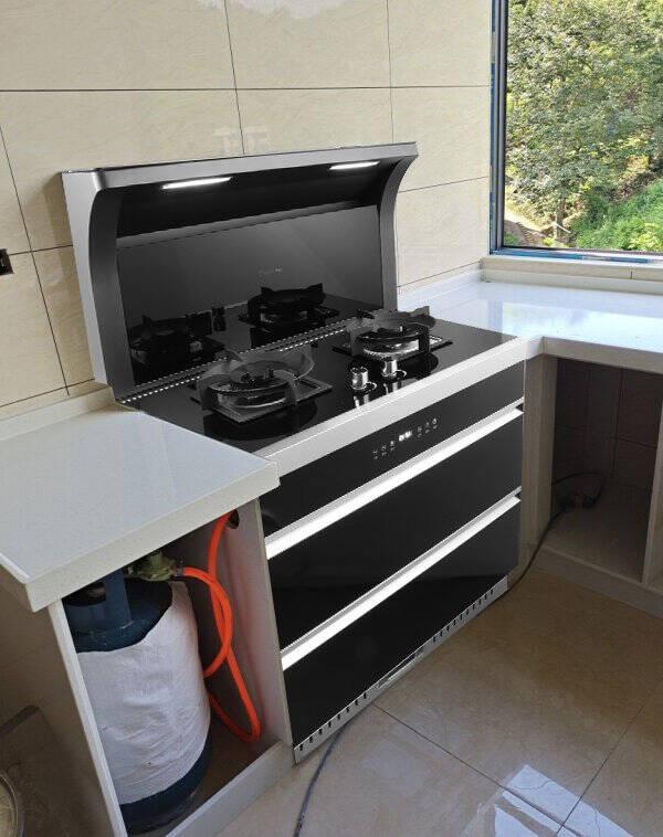 优盟(UM)集成灶蒸烤一体灶侧吸下排式家用环保灶自动清洗蒸箱烤箱一体机UJ216(天然气)