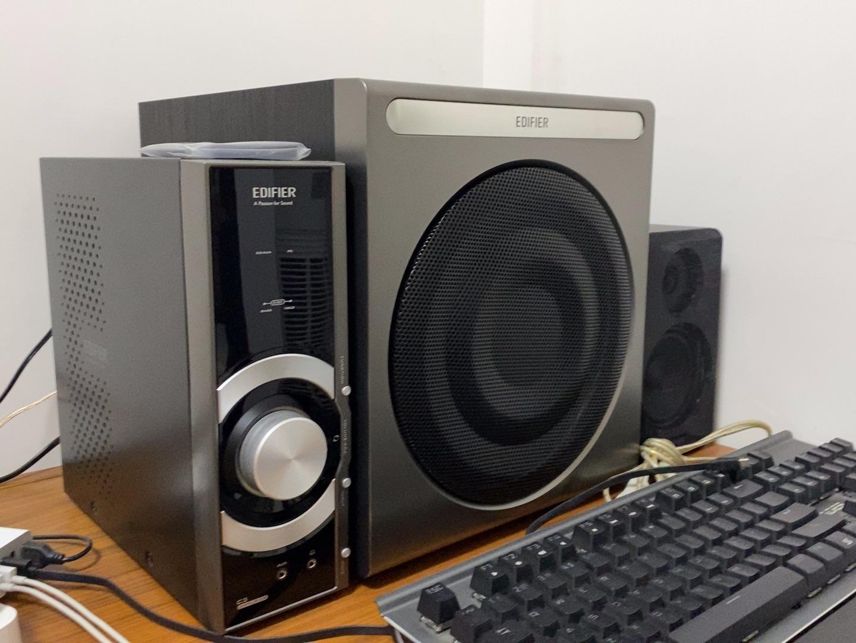 漫步者C3多媒体音箱,2.1声道+独立功放
