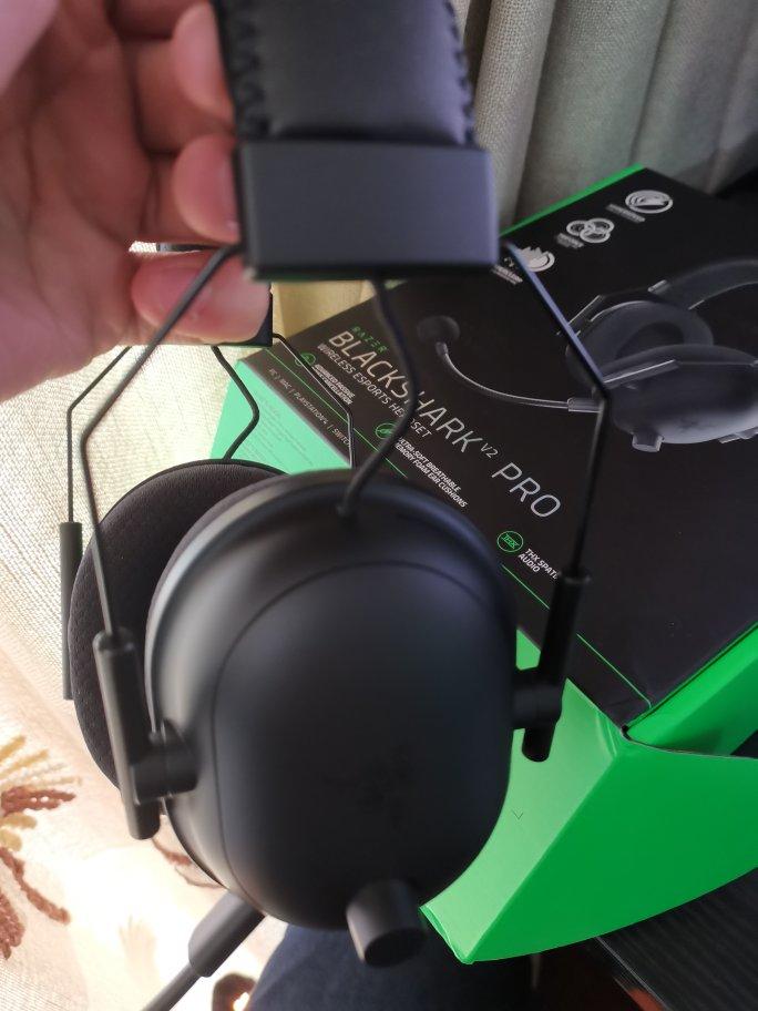 雷蛇旋风黑鲨V2头戴式电竞游戏耳机