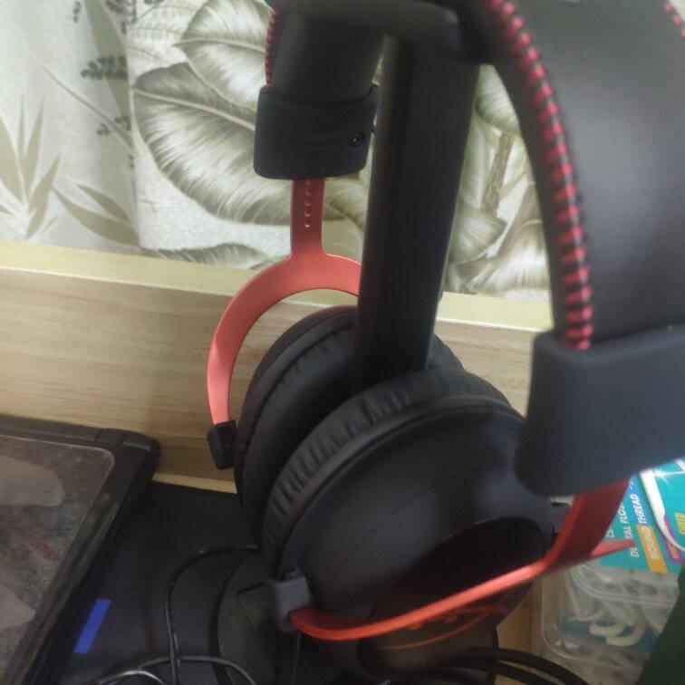 金士顿(Kingston)HyperXcloud2飓风游戏耳机吃鸡头戴式耳机电脑耳麦飓风黑红7.1声道USB声卡