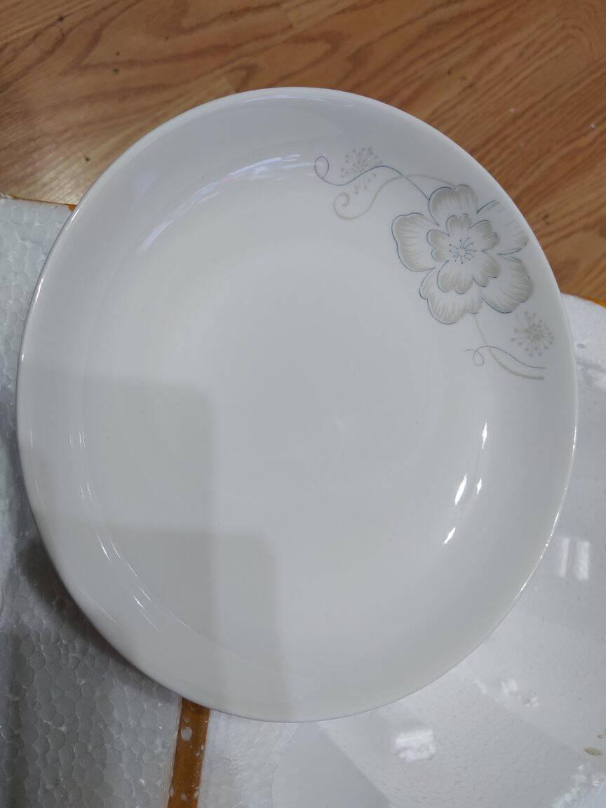 尚行知是餐具套装碗盘卡通创意景德镇陶瓷器陶瓷家用碗碟套装百合18件配1个汤古