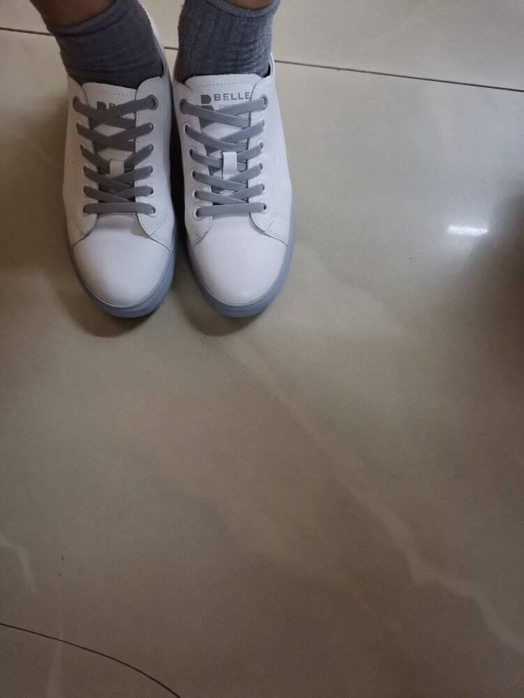 百丽商场同款板鞋女休闲韩版小白鞋单鞋V8B1DCM0白色36