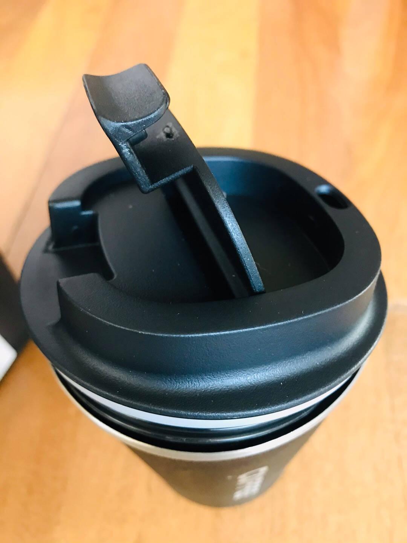 SUCCO保温杯咖啡杯304不锈钢随行杯旅行出差便携水杯大容量车载随身杯情侣杯子带盖男女办公马克杯保温杯-黑色510ML【加购-搅拌勺】