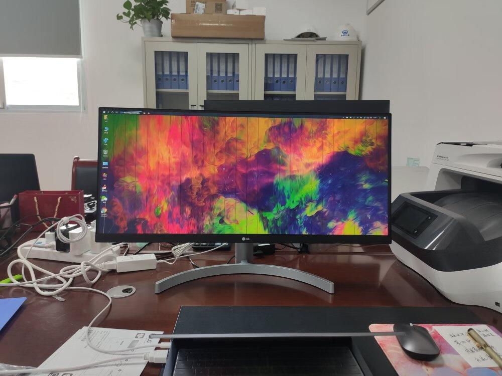 LG超宽带鱼屏,简直办公看文档的利器