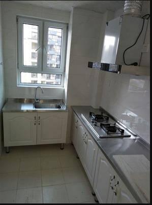 简易厨柜济型家用不锈钢灶台柜厨房整体组合装洗菜碗柜简约橱柜160cm平面