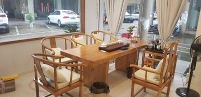 尚尼梵恩新中式实木茶桌椅组合功夫茶台原木实木大板现代简约茶几禅意茶桌茶几茶桌配件茶垫整装