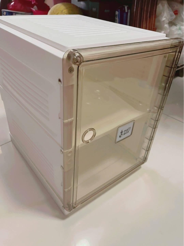 蚂蚁盒子免安装简易鞋柜多层家用出租房简易透明鞋盒门口结实盒收纳柜2列12格6门(可放12双鞋)
