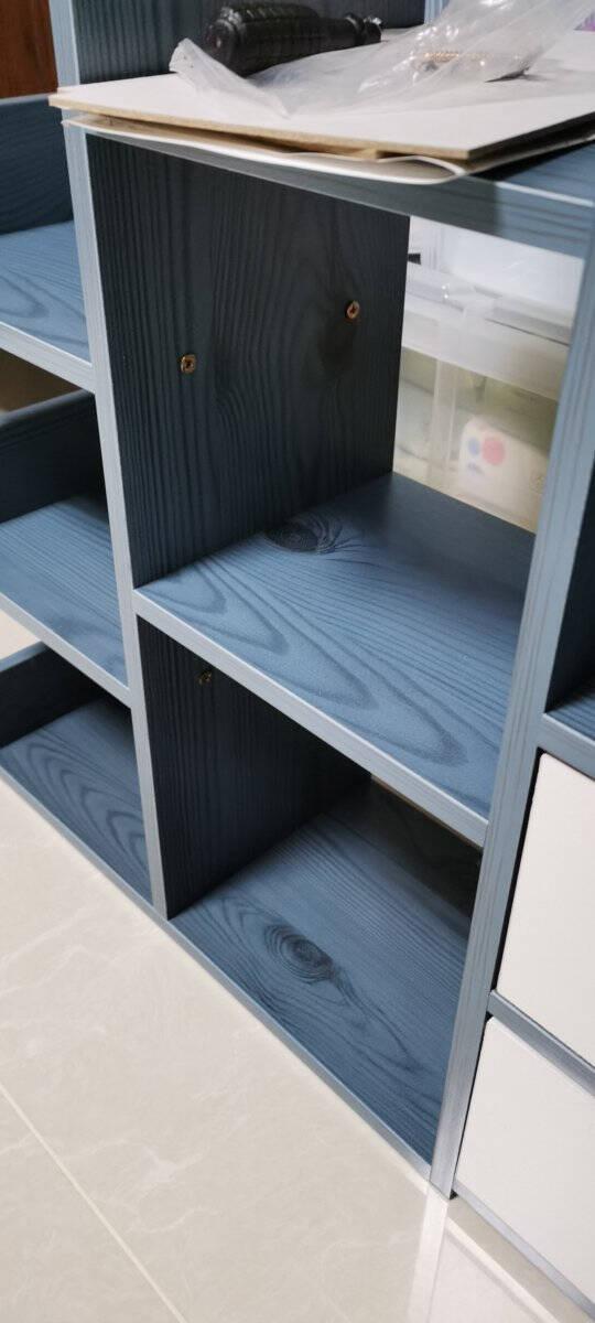 邦达仕桌面小书架简易仿实木桌上置物架层架储物架收纳架【款式二】北美原木纹色+暧白