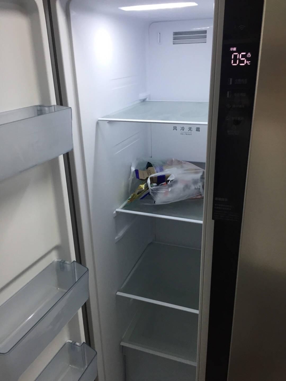 美的(Midea)629升冰箱双开门无霜风冷一级变频智能对开门电冰箱BCD-629WKPZM(E)