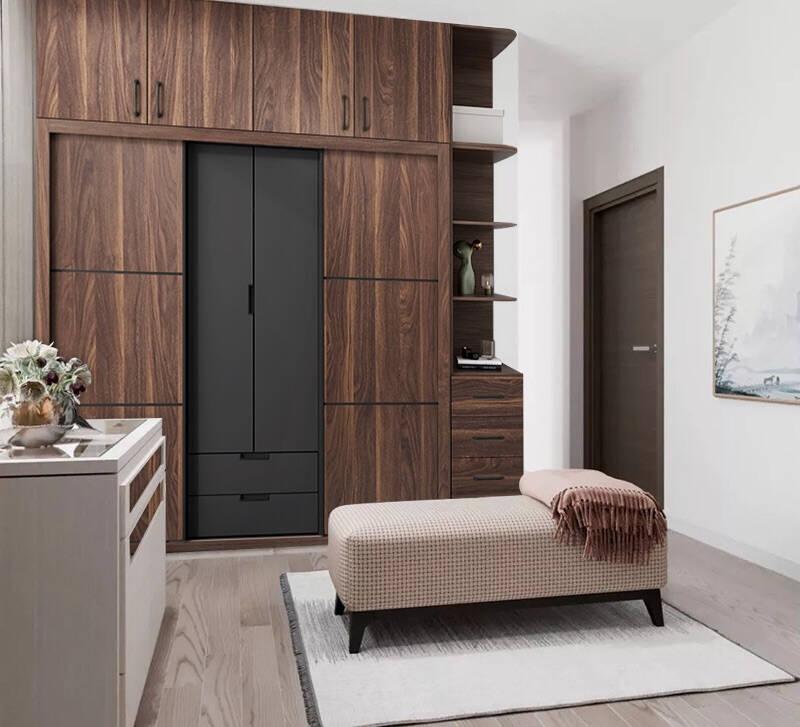 爱卡屋北欧推拉门衣柜现代简约1.8米四门组装家用卧室经济型2米移门滑门组合衣橱趟门衣柜1.6米滑门(免漆环保板)