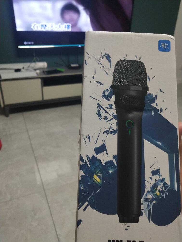 天籁K歌无线智能麦克风电视麦克风k歌话筒海信创维海尔tcl小米电视K歌家庭KTV炫酷黑MM-5SPro(单支升级入门款)