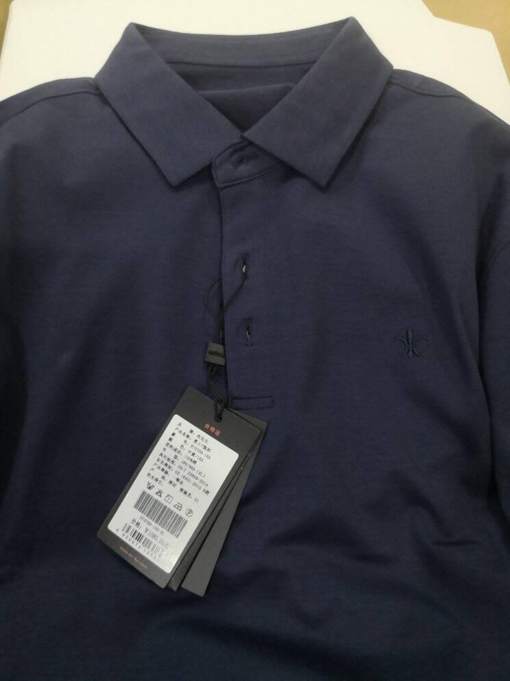 布先生21年秋冬新品男士长袖t恤翻领商务衣服t恤男BT3769灰色L/175