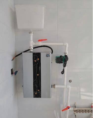 【大礼包】盛亚迪锅炉家用煤改电采暖炉220V变频智能380V全自动地暖壁挂炉电供暖设备远程WIFI珍珠白4kw采暖面积40平方米220v