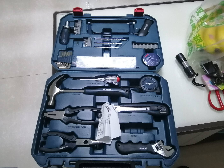 博世(BOSCH)家用多功能手动工具套装五金工具箱108件套塑盒精装