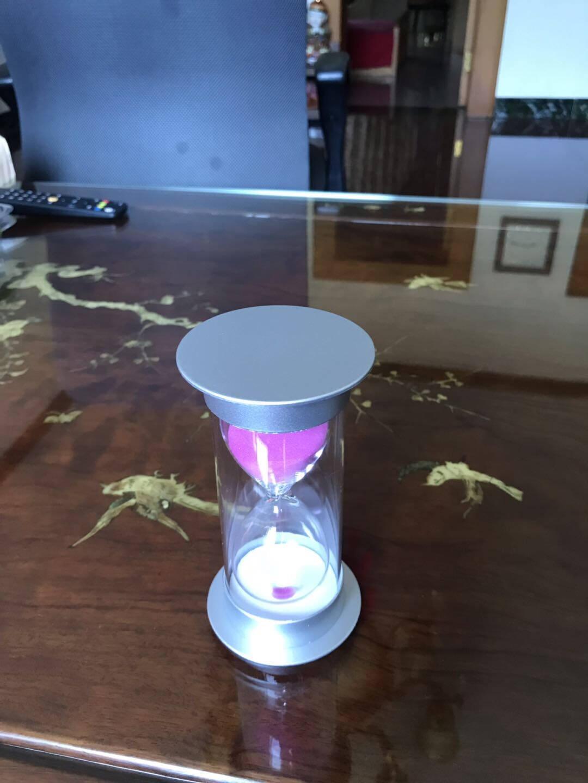 拜杰沙漏计时器儿童防摔客厅办公室书桌餐厅装饰摆件银盖红沙款30分钟