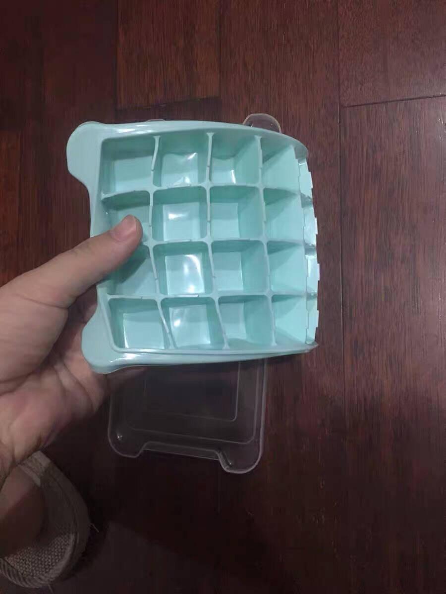 严觅(Yanmibest)硅胶冰块模具家用冰盒冰格带盖冰箱冻冰块冰球雪糕模具软底易脱模冰格24格