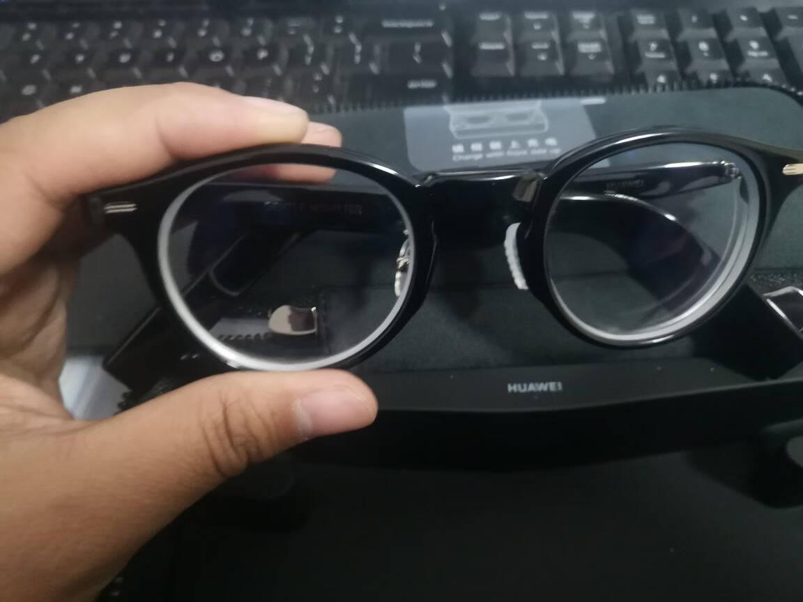 华为智能眼镜HUAWEIXGENTLEMONSTEREyewear时尚科技高清降噪通话二代2KUBO-01(黑色)光学-可换近视镜片