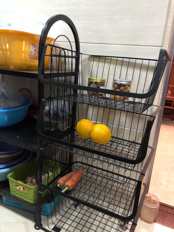 欧润哲厨房置物架桌面油瓶调味架调料架免打孔桌面架子收纳架三层