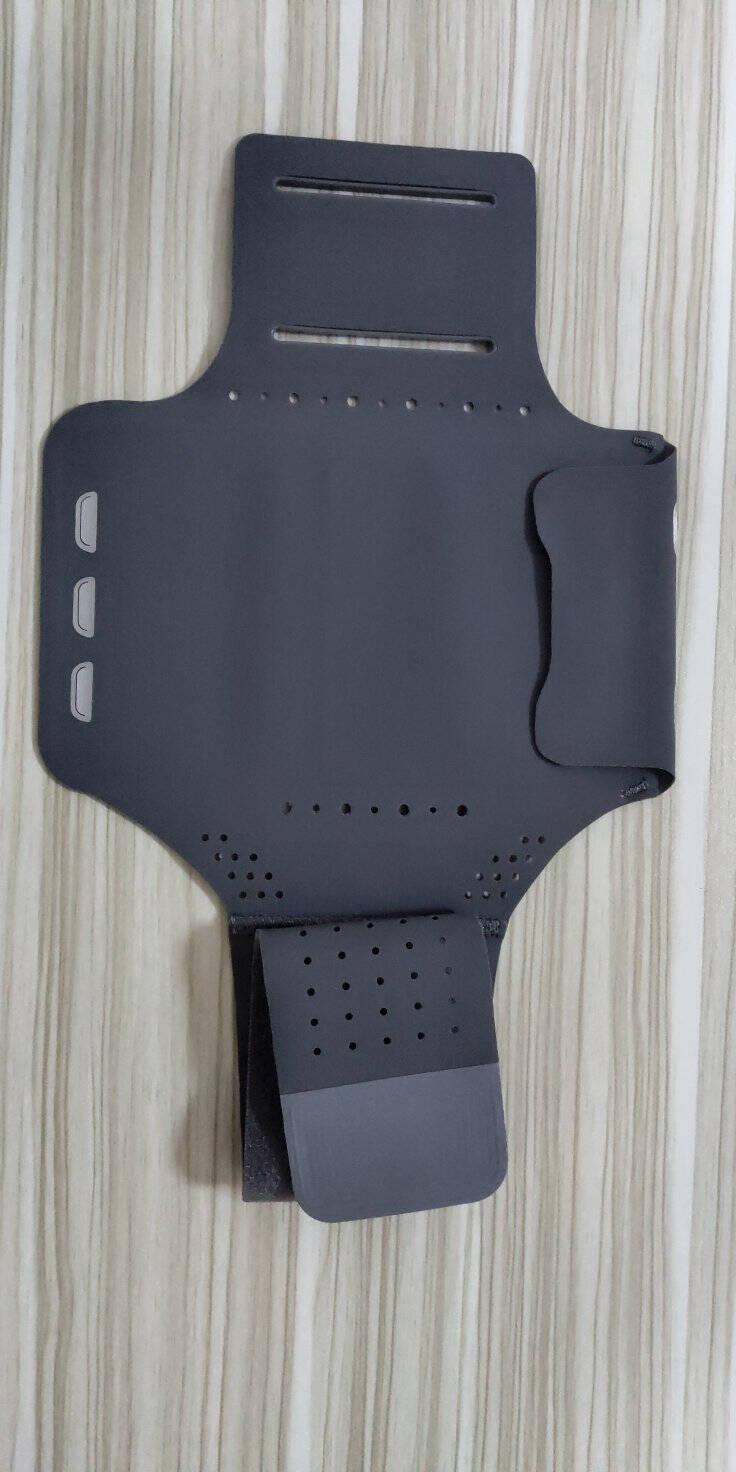 京东京造运动手机臂包户外骑行跑步臂带6.5英寸以下苹果11ProMax/XS/XR/华为P40/小米大号灰色