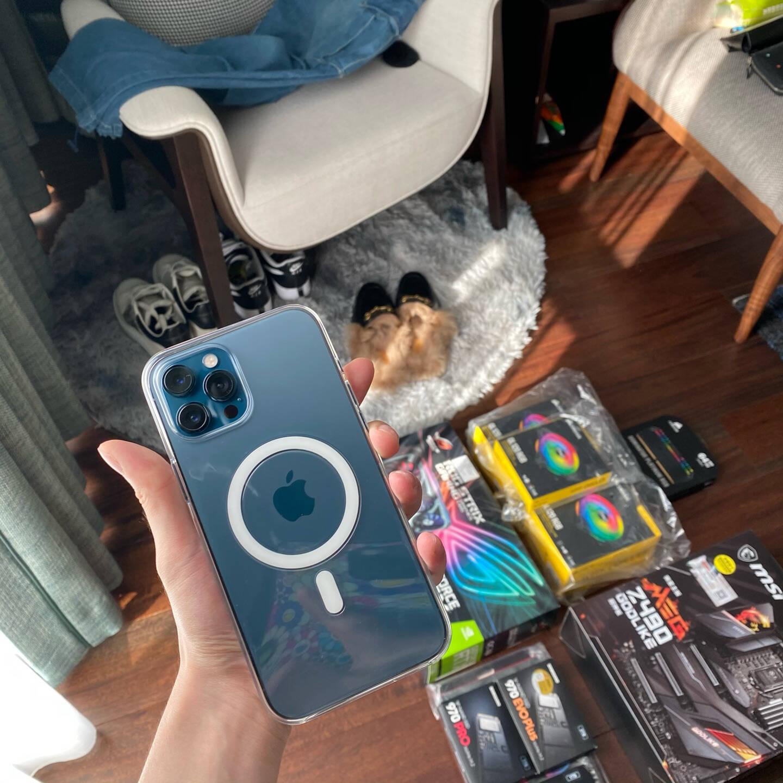【值享焕新版】AppleiPhone12ProMax(A2412)256GB海蓝色支持移动联通电信5G双卡双待手机