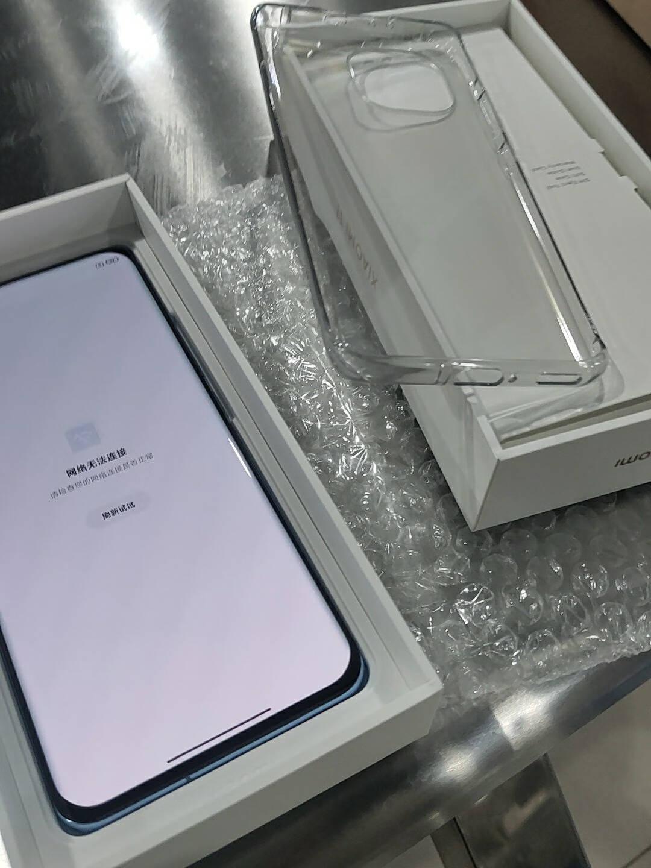 小米115G骁龙8882KAMOLED四曲面柔性屏1亿像素55W有线闪充50W无线闪充8GB+128GB蓝色游戏手机
