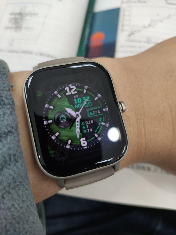 华米GTS智能手表,息屏显示和自定义表盘