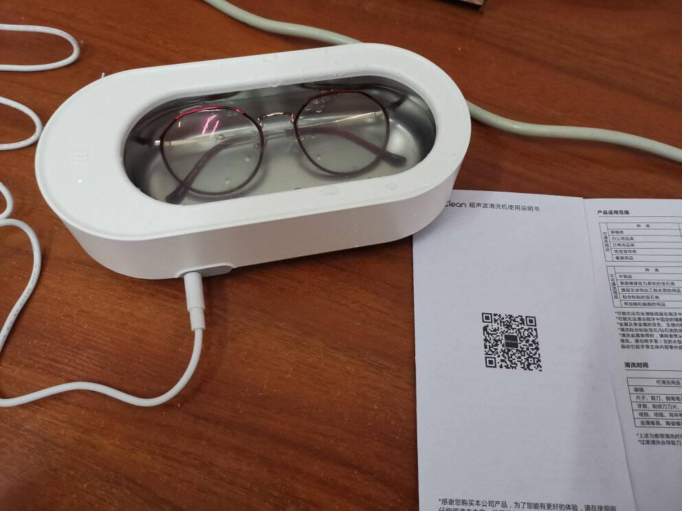 小米生态EraClean超声波清洗机眼镜家用全自动便携清洗机首饰手表假牙牙套清洗器清洗器白色