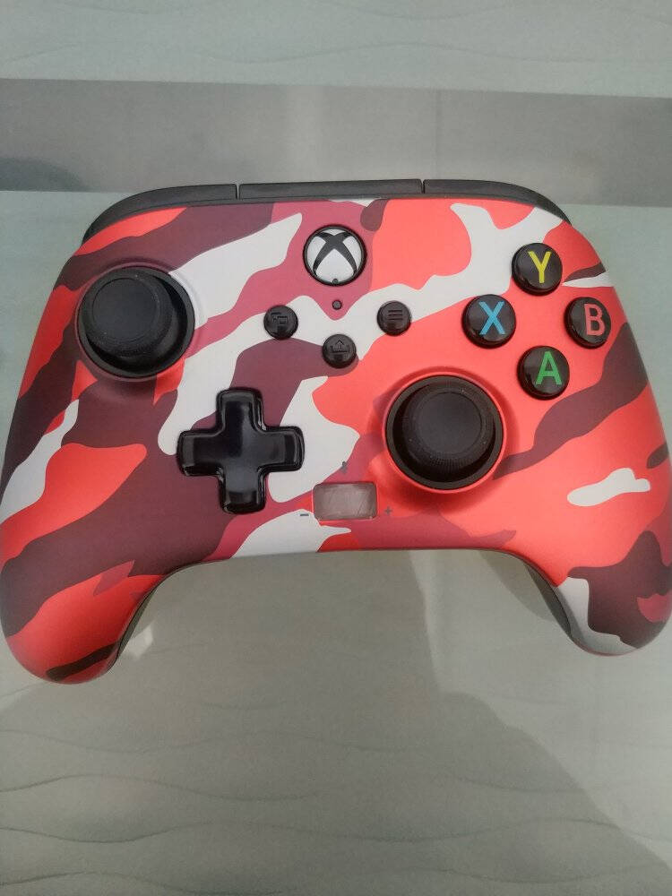 PowerAXbox正版授权XboxOne•XboxSeriesX|S带背键有线手柄-迷彩红款