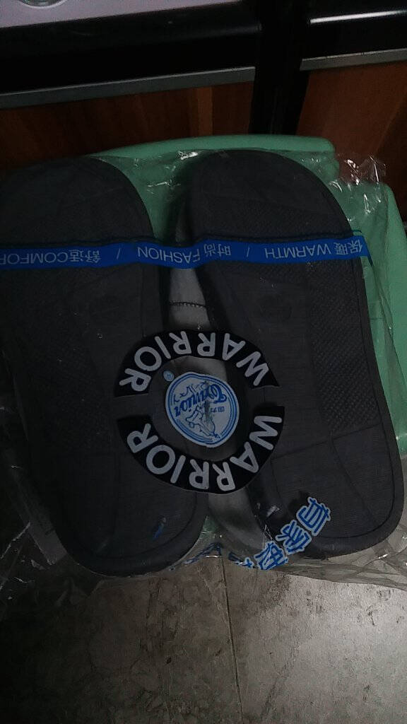回力(Warrior)棉拖鞋女家居简约休闲秋冬保暖包跟男女情侣款棉鞋WST-2612灰色42-43