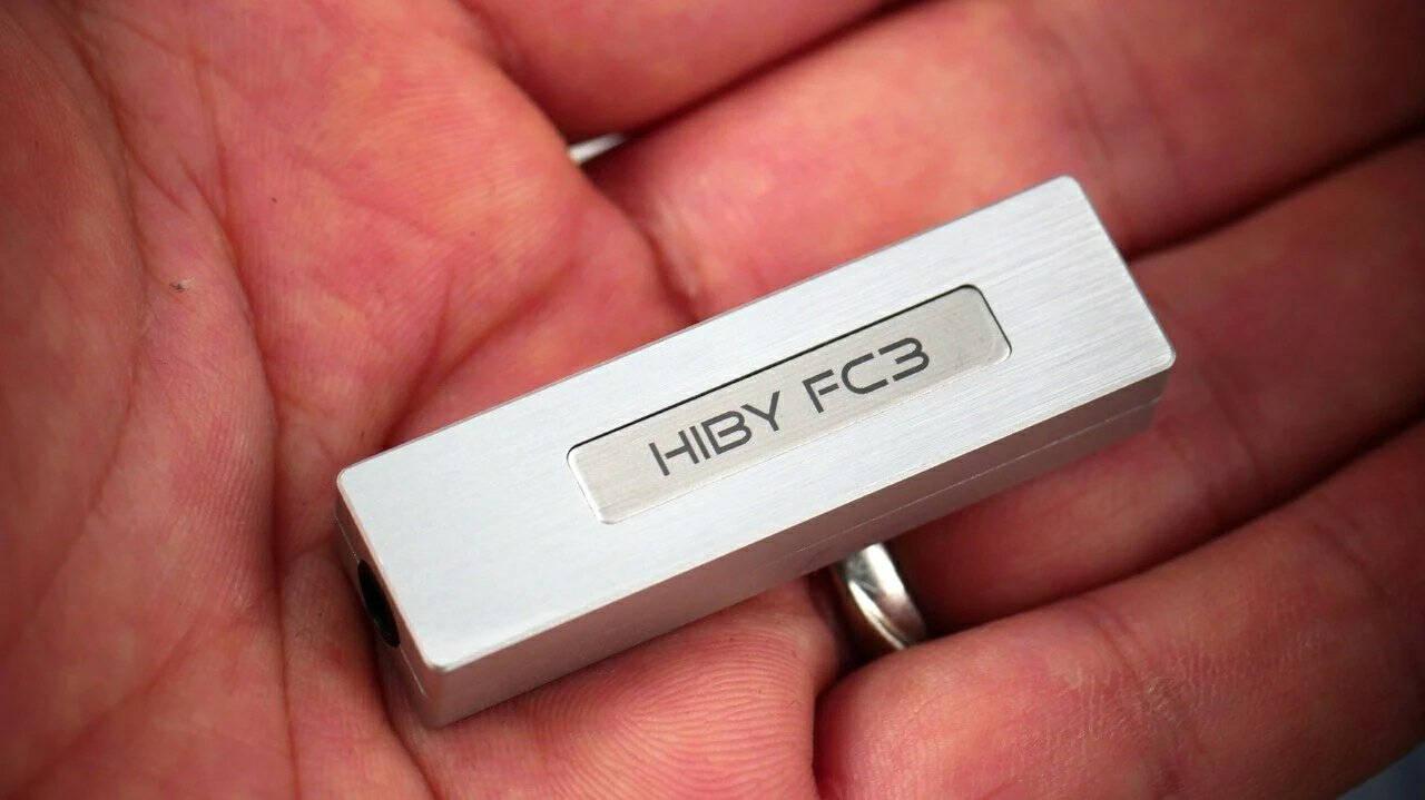 HiBy海贝解码耳放便携hifi一体机MQA手机小尾巴音频器type-c转3.5mm耳机fc3银色