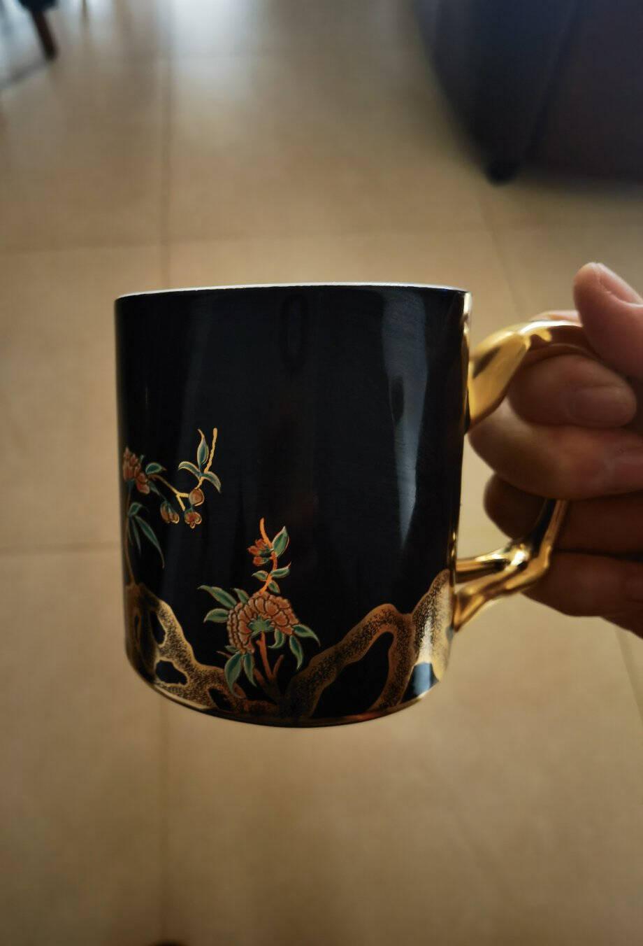 auratic国瓷永丰源350ml中国风情侣陶瓷马克杯水杯茶杯350ml马克杯-902001902001