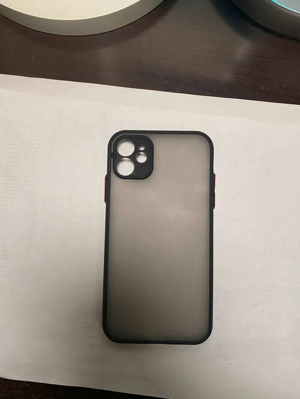 世咏苹果11手机壳iphone11promax保护套防摔男女款硅胶撞色透明磨砂全包摄像镜头苹果11【优雅黑】+全屏钻石膜