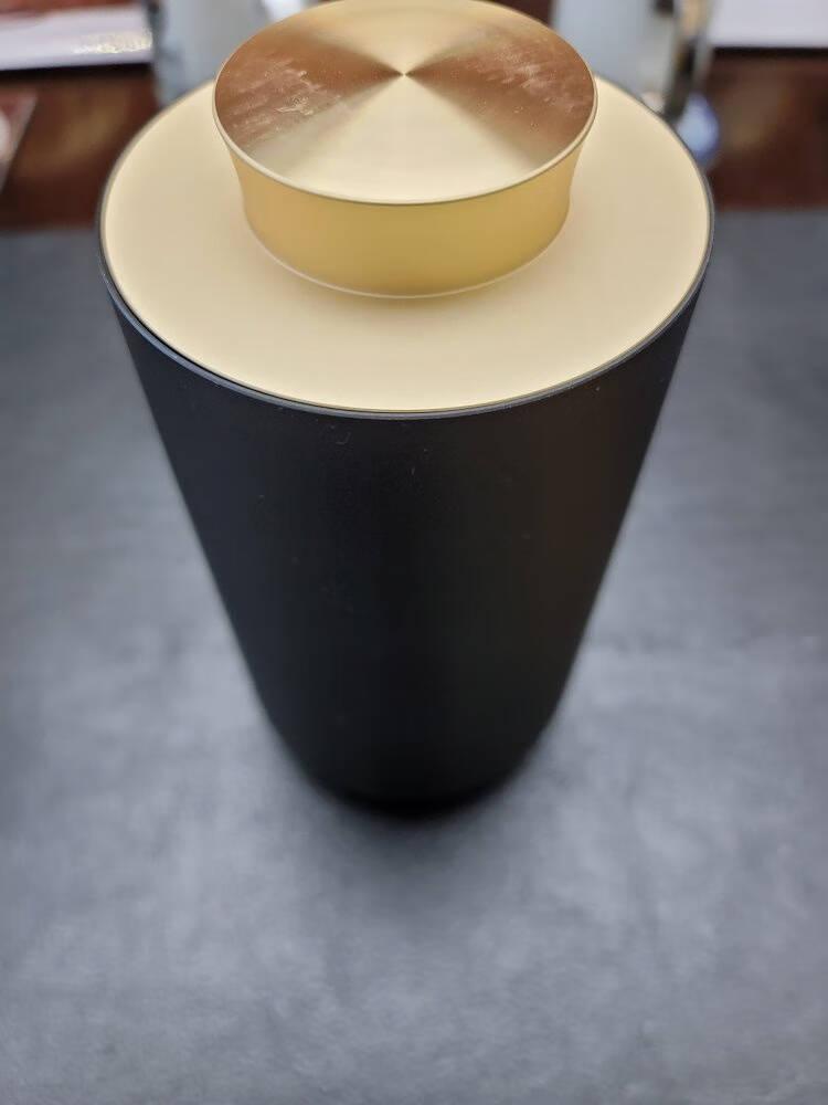 三界茶具黑金茶叶罐小号密封罐普洱茶仓茶叶盒便携存茶罐茶具储茶罐创意储藏罐铝合金茶罐黑金茶叶罐(200ml)