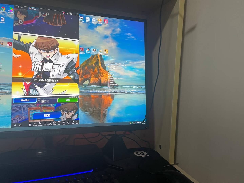 泰坦军团27英寸IPS2K144Hz显示器1msHDR400G-sync兼容旋转升降电脑显示屏幕电竞小金刚畅玩吃鸡27G1