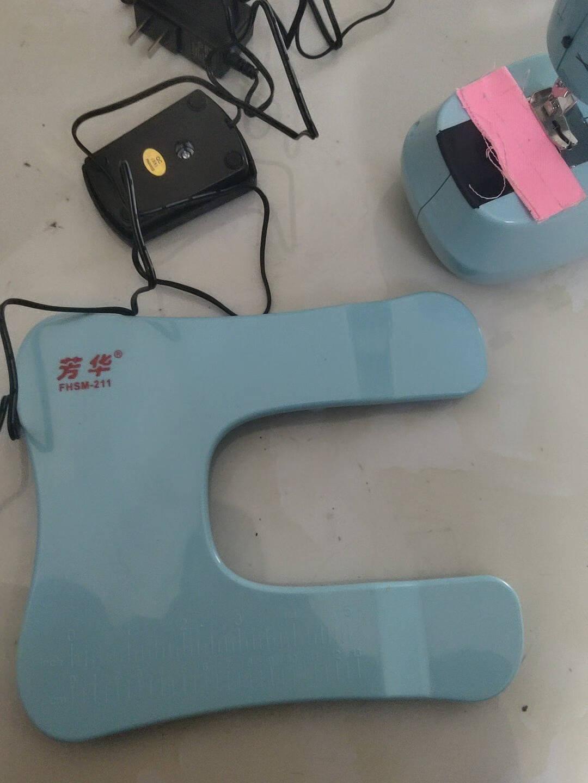 【新款上市】芳华211缝纫机家用电动迷你多功能小型吃厚微型缝纫机白+紫