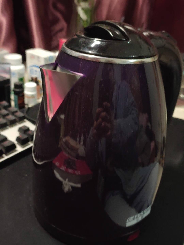 半球(Peskoe)电水壶1.8L电热水壶食品级304不锈钢电壶双层烧水壶