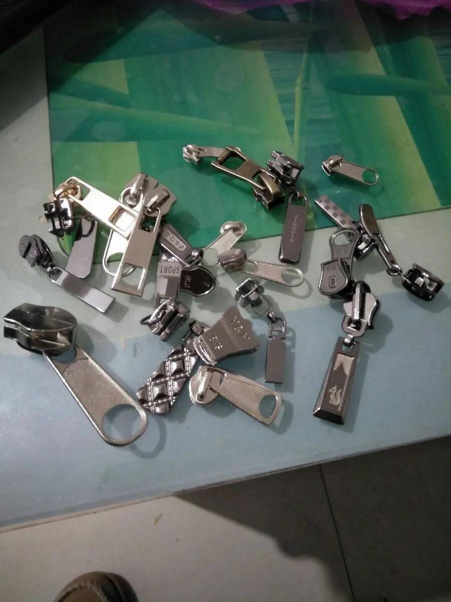 20种拉链头混合装拉链头拉链配件3号5号7号8号10号拉链头衣服包包金属拉锁头常用所有型号拉链头全家福20个